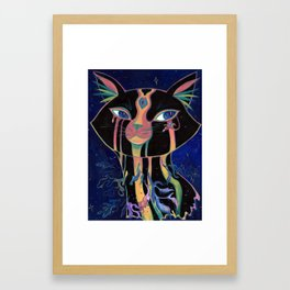Galactic Kitties: Opal Framed Art Print