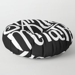Slainte Mhath on black Floor Pillow