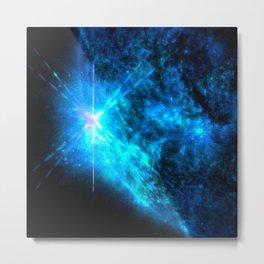 Blue Starlight Metal Print