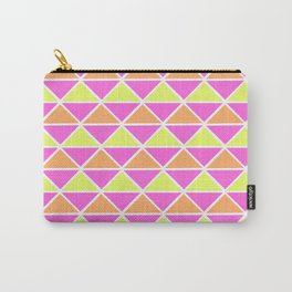 Triangle pattern – pink orange yellow Carry-All Pouch