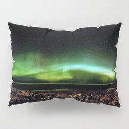 Northern Lights and the Rocky Shore Pillow Sham