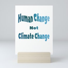 Global Warming Climate Change Awareness Mini Art Print