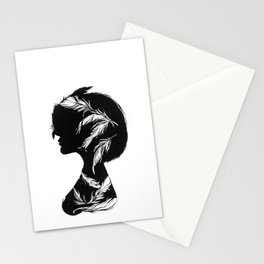 Owlphelia Silhouette Stationery Cards
