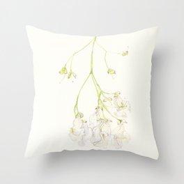 Catalpa Blossom 1 Throw Pillow