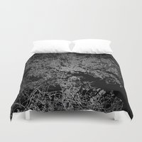 baltimore Duvet Covers featuring Baltimore map Maryland by Line Line Lines