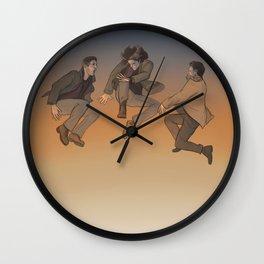Team Free Will. Trampoline Wall Clock
