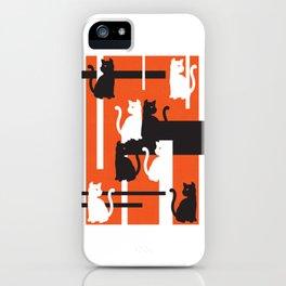 Cat in De Stijl - Halloween Edition iPhone Case