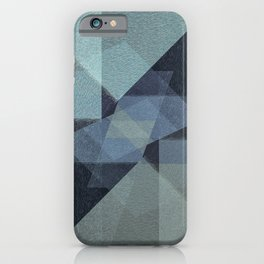 Contemporary art shades of gray and blue iPhone Case