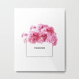 Fashion, Flowers, Pink, Modern, Minimal, Interior, Wall art Metal Print