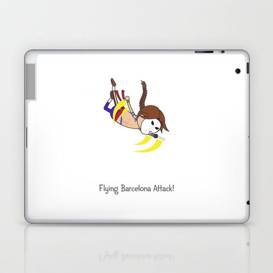 Flying Barcelona Attack Laptop & iPad Skin