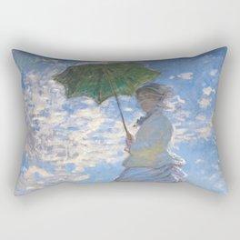 1875-Claude Monet-Woman with a Parasol - Madame Monet and Her Son-81 x 100 Rectangular Pillow