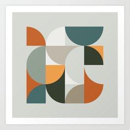 Mid Century Geometric 12 Art Print