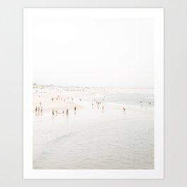 At The Beach (seven) Art Print