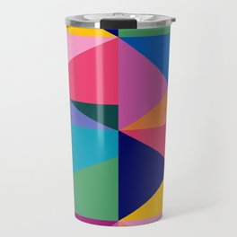 Geometric Color Block Travel Mug