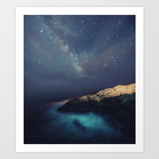 Starry Night on the Coast Art Print