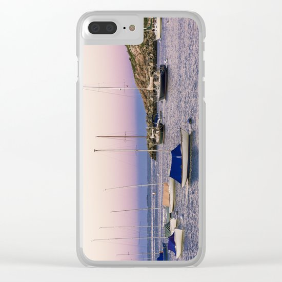 Earth's shadow over the harbor Clear iPhone Case