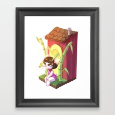 Pekoe chilling Framed Art Print