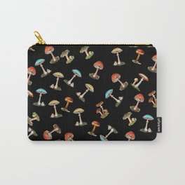 Electric Neon Mushrooms Carry-All Pouch