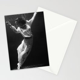 Fashion Model Underwater in Dolphin Tank, Florida,1939 Stationery Cards