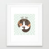 fat Framed Art Prints featuring Fat Fat by Astrobunny