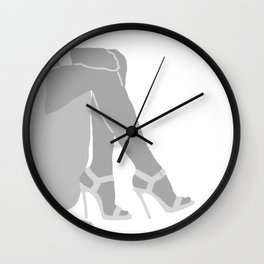 WOMAN light - shoes , leg , high heels Wall Clock