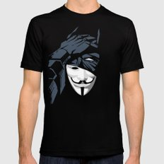 V For Bat (B Edition) Black LARGE Mens Fitted Tee