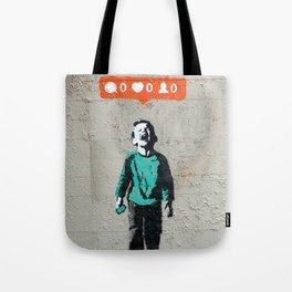 Banksy, social life, likes Tote Bag