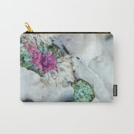 Colorful watermelon tourmaline crystal, macro #society6 Carry-All Pouch