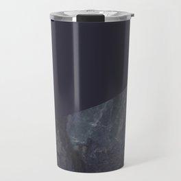 Marble Geometric Navy Blue Indigo Travel Mug