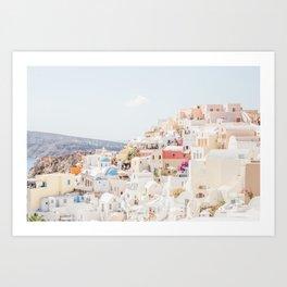 Santorini Oia Art Print