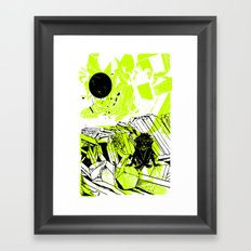 Depression on a Lonely Planet Framed Art Print