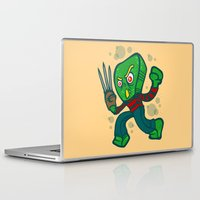 freddy krueger Laptop & iPad Skins featuring Gumby Krueger by Artistic Dyslexia