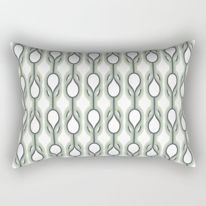 Retro-Delight - Double Drops - Mint Rectangular Pillow
