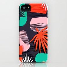 Dank - memphis style 80's throwback neon shape palm house plant retro vintage decor hipster art iPhone SE Slim Case
