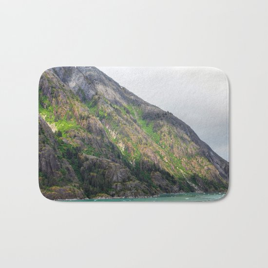 Sunlit Mountain Bath Mat
