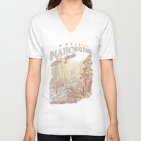 parks V-neck T-shirts featuring Adventure National Parks by Taylor Rose