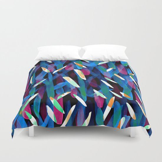 In the Neon Abstract Duvet Cover