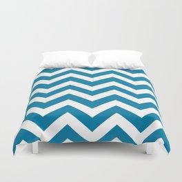 CG blue - ble color - Zigzag Chevron Pattern Duvet Cover