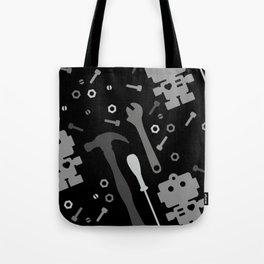 Techie Tools - black and grey Tote Bag