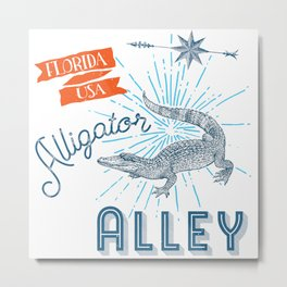 Alligator Alley Swamp Sanctuary Florida Metal Print