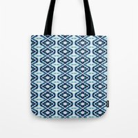 mandela Tote Bags featuring Colored Mandela by LEEMARIE