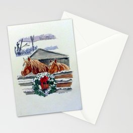 Christmas Ponies Stationery Cards