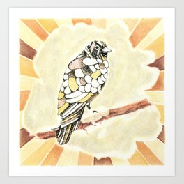 Canary in a Cathouse Art Print