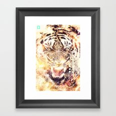 Feline Fire Framed Art Print