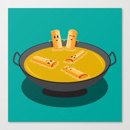 Deep Fry Spring Rolls Hot Tubbing Canvas Print