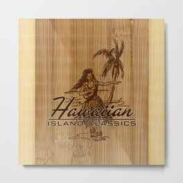 Tradewinds Hawaiian Island Hula Girl Metal Print