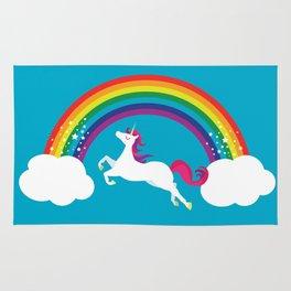 Unicorn Rainbow in the Sky Rug
