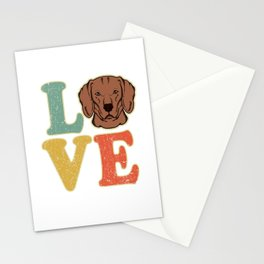 Love Vizsla Dog Hungarian Pointer Gift Stationery Cards