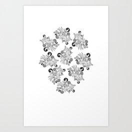 Tropical Pattern Art Print
