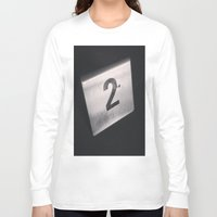 number Long Sleeve T-shirts featuring Number 2 Table Number by Redhedge Photos